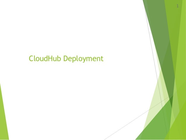 CloudHub Deployment 1