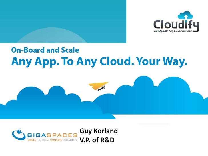 aces Cloudifyn Any Cloud, Your Way        February 2012                        Guy Korland                        V.P. of ...