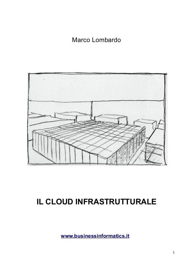Marco Lombardo IL CLOUD INFRASTRUTTURALE www.businessinformatics.it 1