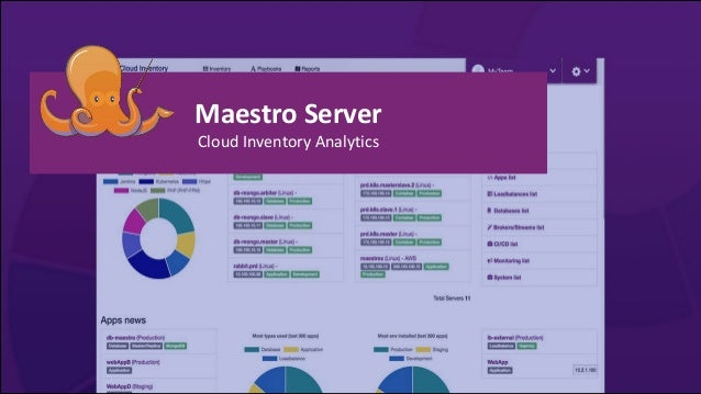 Maestro Server Cloud Inventory Analytics