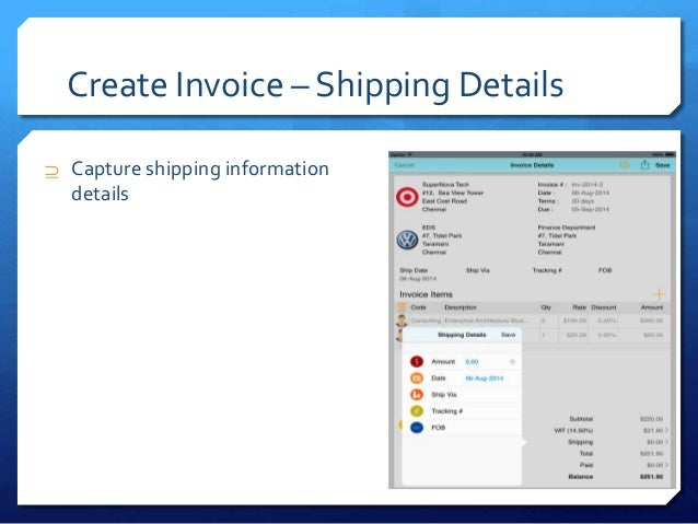 Cloud Invoice Create Invoice And Email PDF App In IPhone IPa - Create invoice email
