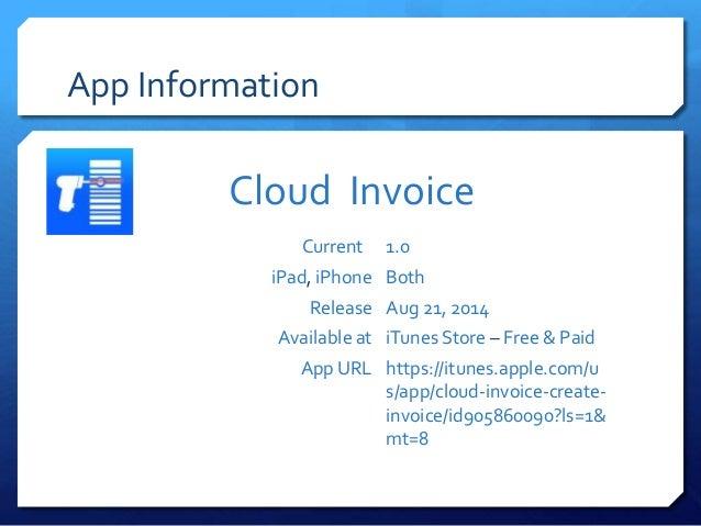 Cloud Invoice Create Invoice And Email PDF App In IPhone IPa - Create invoice app