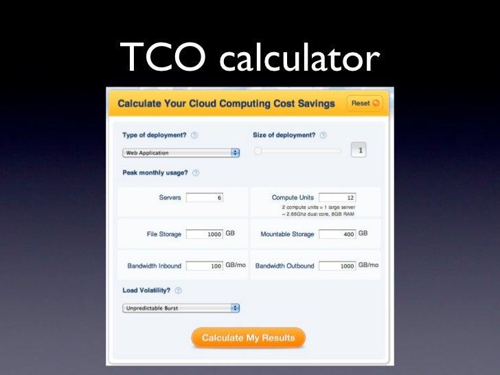 TCO calculator