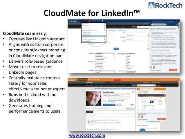 CloudMate for LinkedIn™                                                        Rank: 35 out of 2,953   David GowelCloudMat...