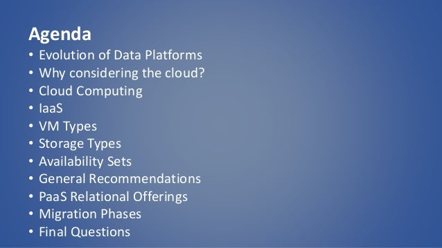 Cloud migrations Experiences from the Field Slide 3