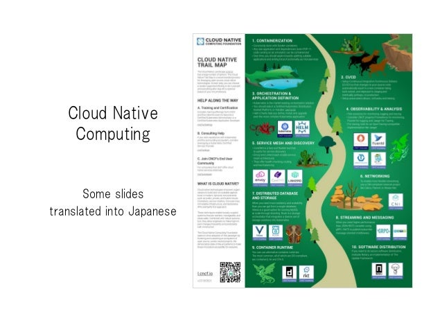 Cloud Native Computing Some slides translated into Japanese