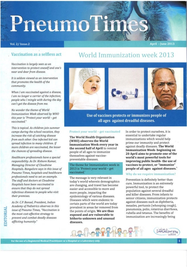 World Immunization week 2013