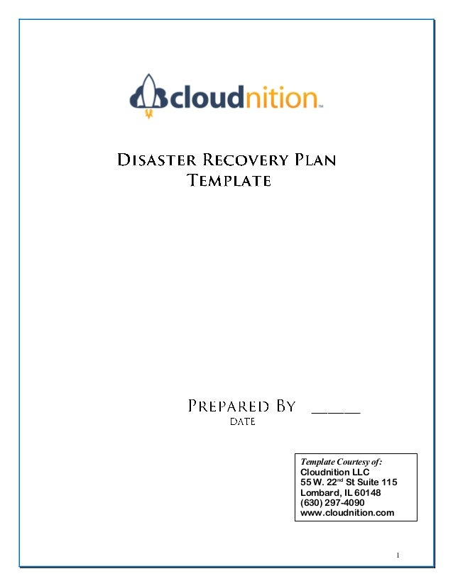 Cloudnition Dr Plan Template Fillable Form - Telecom disaster recovery plan template