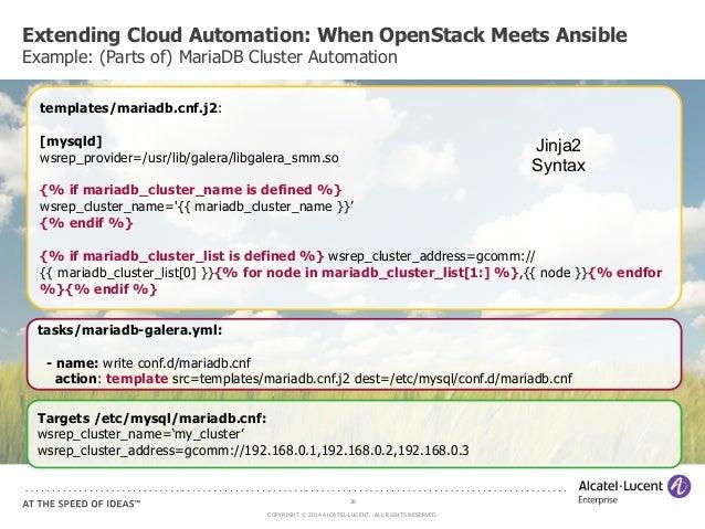 CloudOpen 2014 - Extending Cloud Automation, When OpenStack