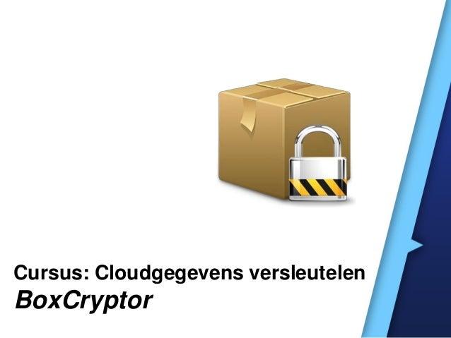 Cursus: Cloudgegevens versleutelen BoxCryptor