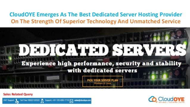 The best dedicated server hosting