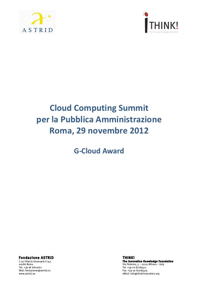 Cloud Computing Summit          ...