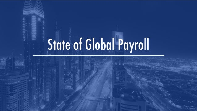 State of Global Payroll
