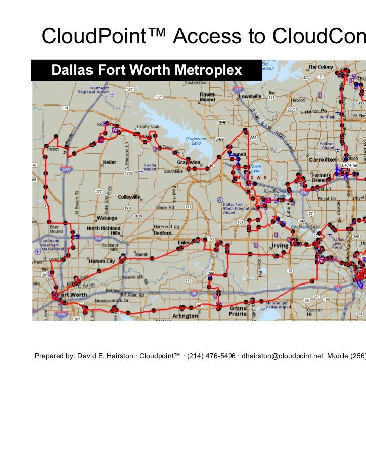 CloudPoint™ Access to CloudComputing     Dallas Fort Worth MetroplexPrepared by: David E. Hairston · Cloudpoint™ · (214) 4...