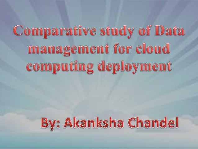 The concept of 'cloud computing' is currently receiving considerable attention, both in the research and commercial arenas...