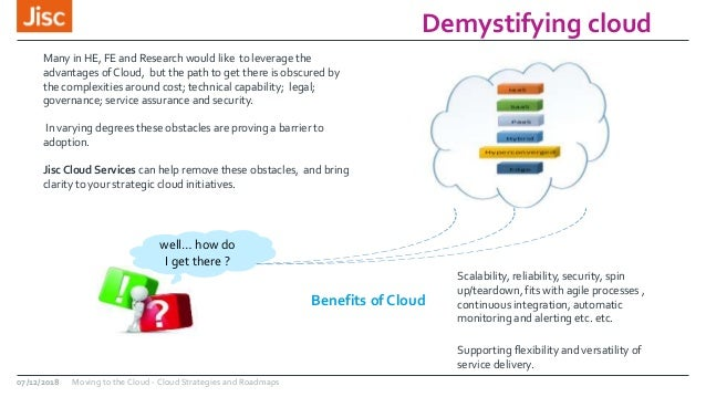 Moving to the cloud: cloud strategies and roadmaps Slide 3