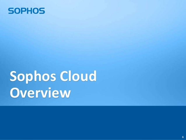 Sophos Cloud - breaking the stereotypes