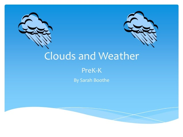 Clouds and Weather PreK-K By Sarah Boothe