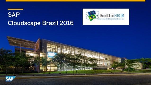 SAP Cloudscape Brazil 2016