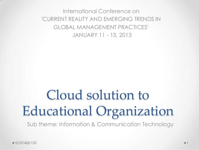 International Conference on                CURRENT REALITY AND EMERGING TRENDS IN                    GLOBAL MANAGEMENT PRA...