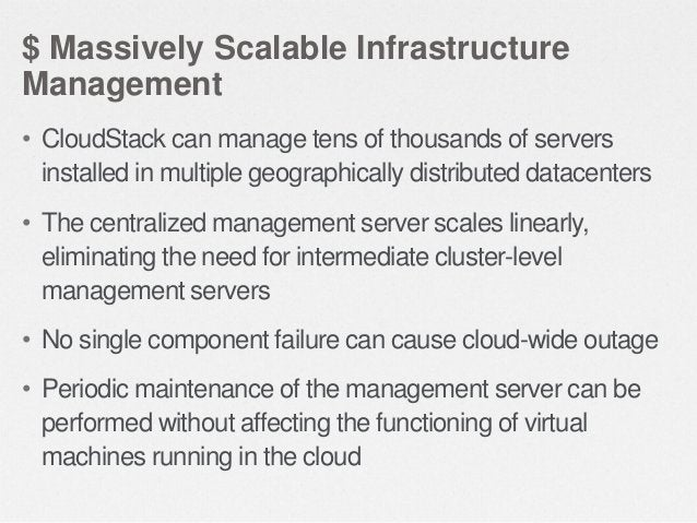 $ Multiple Hypervisor Support • A single cloud deployment can contain multiple hypervisors  • Including Citrix XenServer, ...