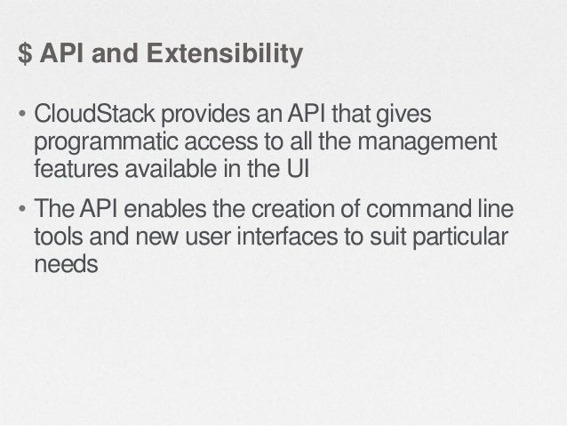 $ High Availability • The CloudStack platform has a number of features to increase the availability of the system  • The M...