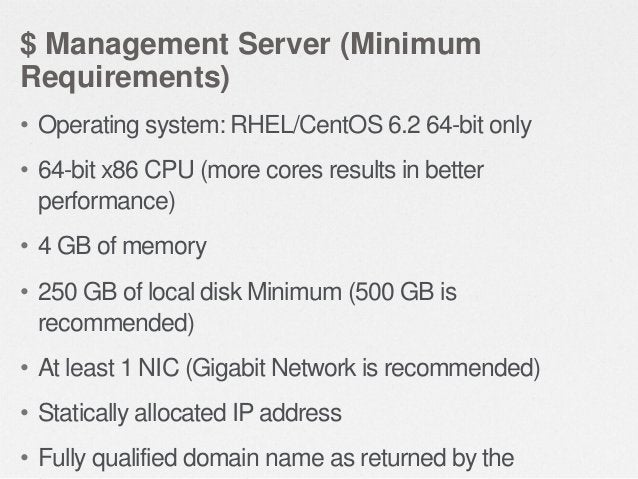 $ Storage Requirements • CloudStack needs two types of storage  • Primary storage is used for storing the guest VM root di...