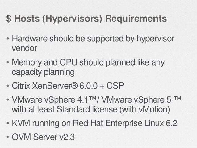$ Network Requirements • 1 GB or 10 GB Network  • IP range for Private Network & Public Network excluded from local DHCP •...