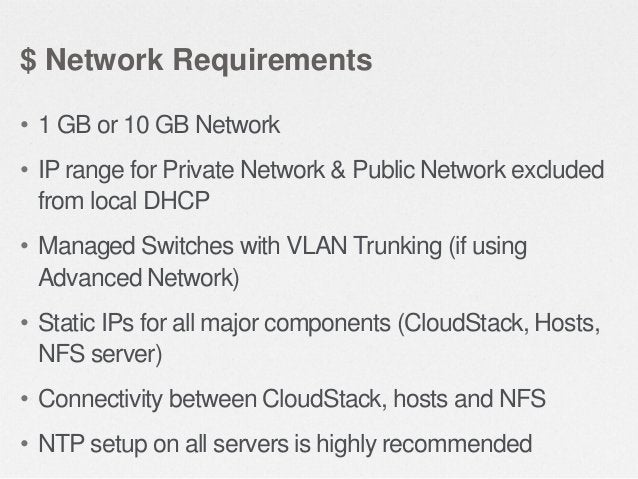 $ Prepare the Operating System • Configure the hostname – hostname --fqdn  • Configure the network – ping cloudstack.org  ...