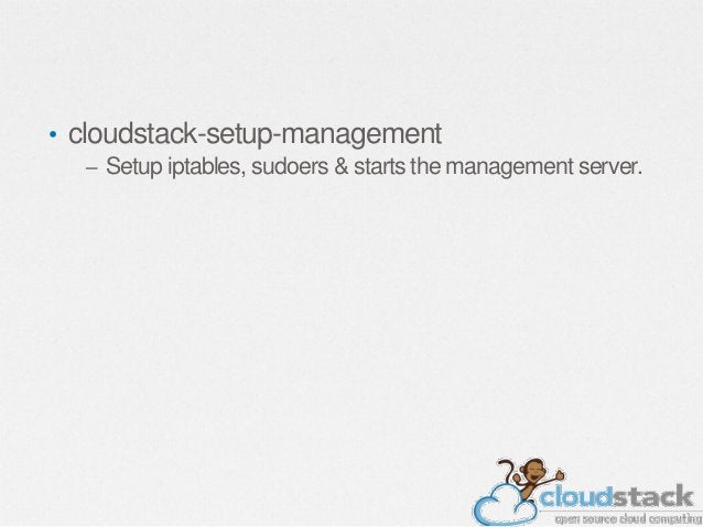 $ Prepare the System VM Template /usr/share/cloudstackcommon/scripts/storage/secondary/cloudinstall-sys-tmplt -m /secondar...