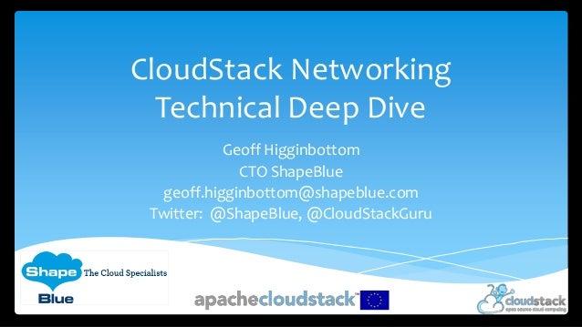 CloudStack Networking Technical Deep Dive Geoff Higginbottom CTO ShapeBlue geoff.higginbottom@shapeblue.com Twitter: @Shap...