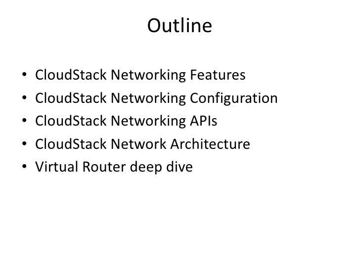 CloudStack Networking Slide 2