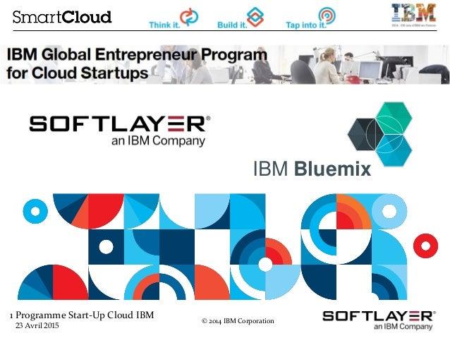 1 Programme Start-Up Cloud IBM 23 Avril 2015 © 2014 IBM Corporation IBM Bluemix