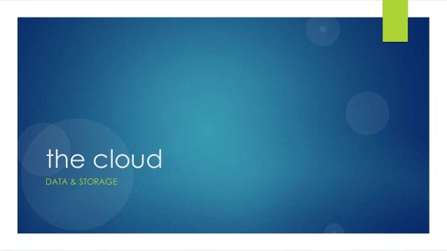 the cloudDATA & STORAGE