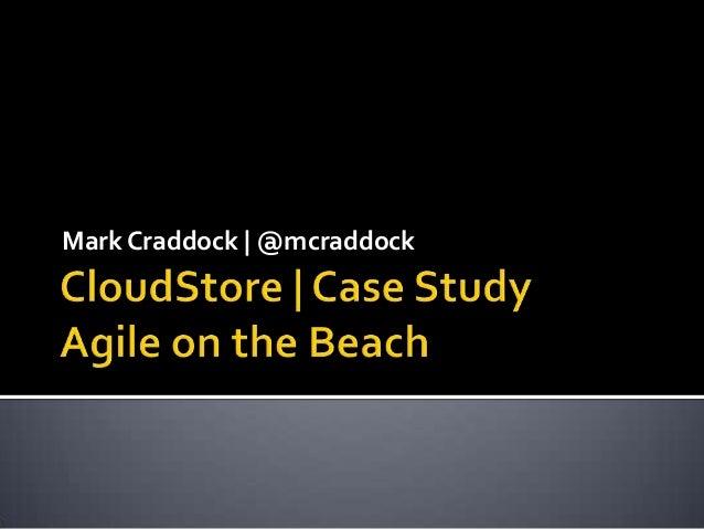 Mark Craddock   @mcraddock