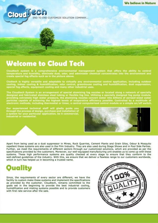 Cloud Tech, Yamunanagar, Fogging & Misting system  Slide 2