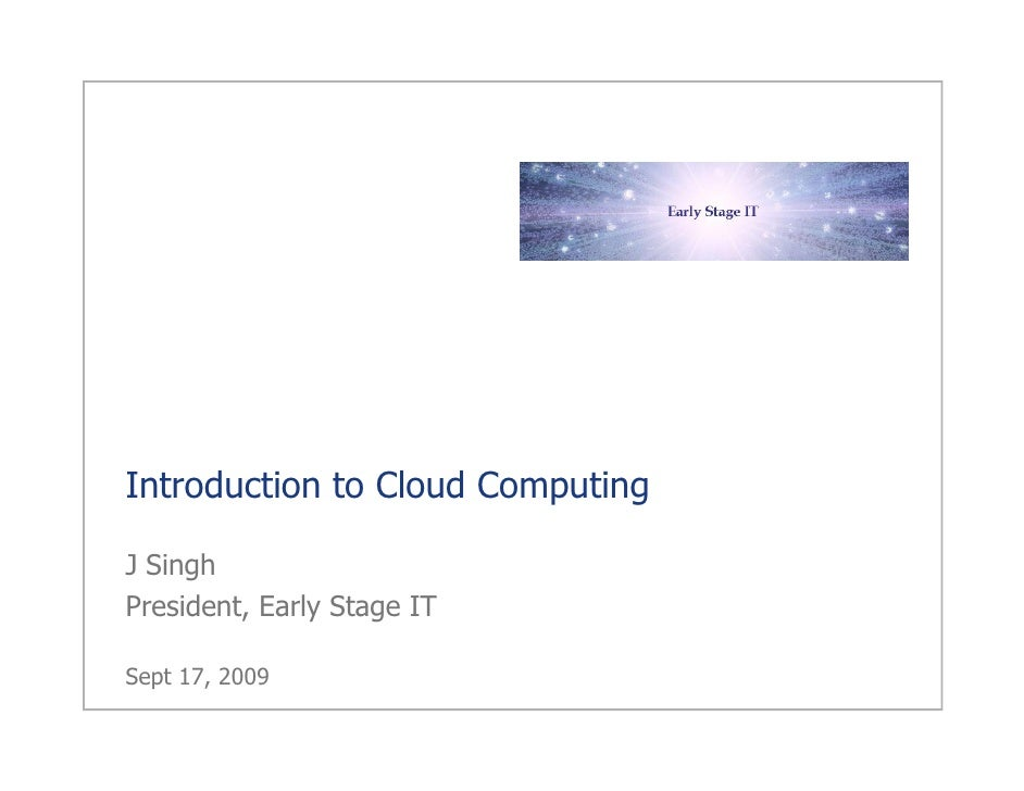Cloud Computing from an Entrpreneur's Viewpoint