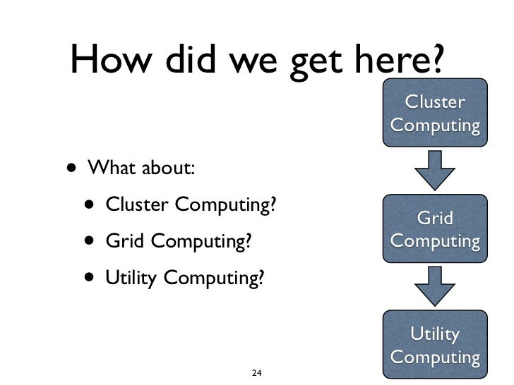 How did we get here?                          Cluster                         Computing  • What about:  • Cluster Computin...