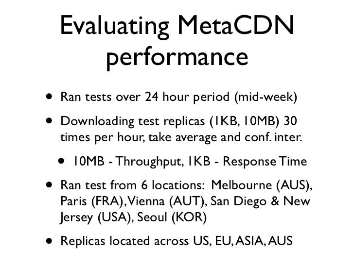 Summary of results -                Response Time (Sec)                 S3    S3   SDN   SDN    SDN   SDN                 ...