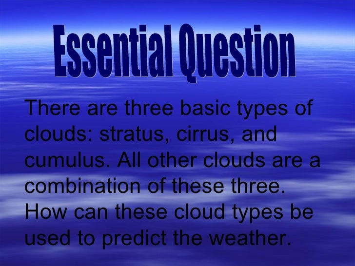 Cloud Types Presentation