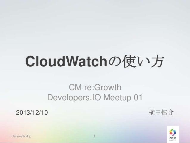 CloudWatchの使い方 Slide 2