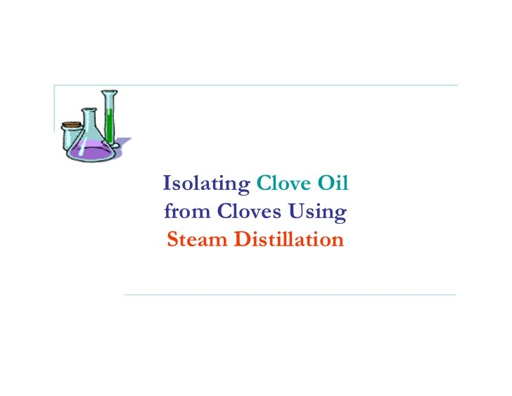 Isolating Clove Oil from Cloves Using Steam Distillation