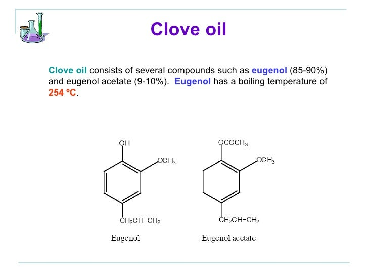 isolation of clove oil from cloves Constituents of the essential oil from leaves and buds  h for isolation of oils separately  chemical constituents of the essential oil from clove leaves and buds .