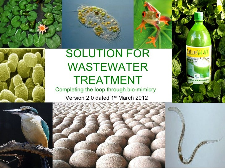CLOVER PRODUCT SOLUTION FOR  WASTEWATER   TREATMENTCompleting the loop through bio-mimicry   Version 2.0 dated 1st March 2...