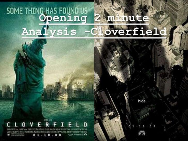 Opening 2 minuteAnalysis -Cloverfield