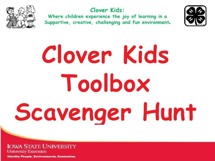 Clover Kids:   Where children experience the joy of learning in a  Supportive, creative, challenging and fun environment. ...
