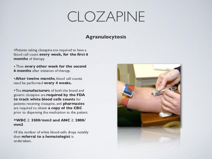 Clozaril Lab Requirements