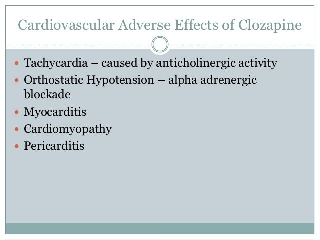 Clozapine Clozaril Side Effects