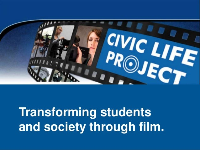 Transforming students and society through film.