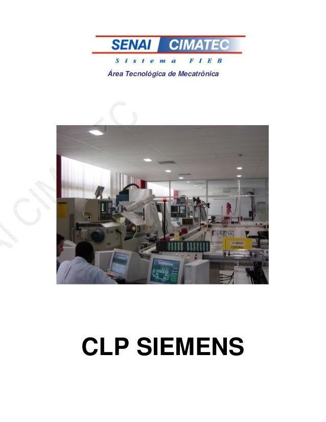 Área Tecnológica de Mecatrônica CLP SIEMENS